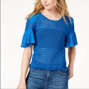 NEW Free People Laguna Blue Babes Only Sweater XS